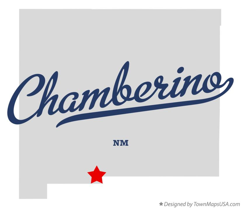 Map of Chamberino New Mexico NM