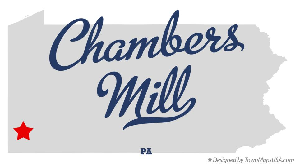Map of Chambers Mill Pennsylvania PA