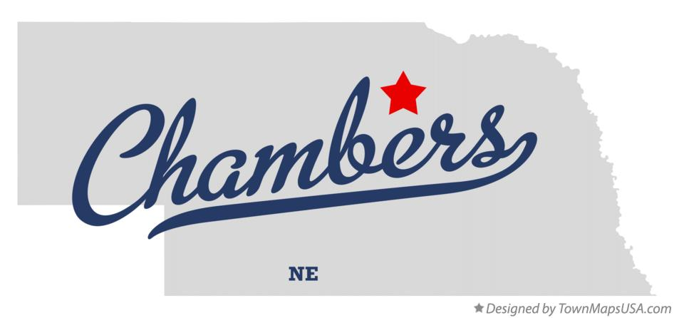 Map of Chambers Nebraska NE