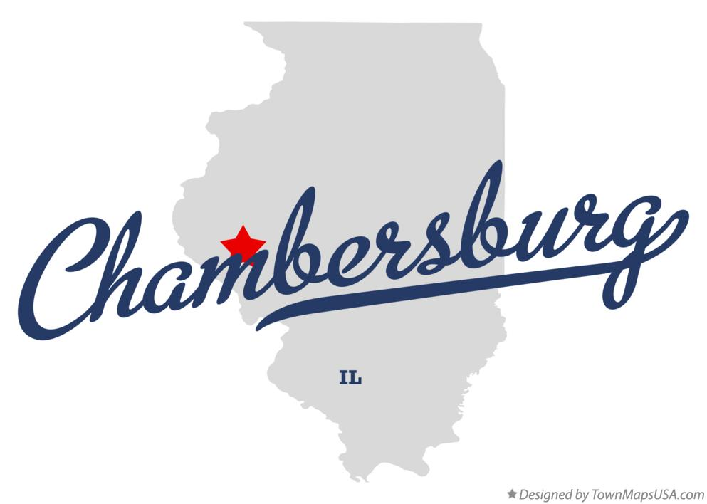 Map of Chambersburg Illinois IL