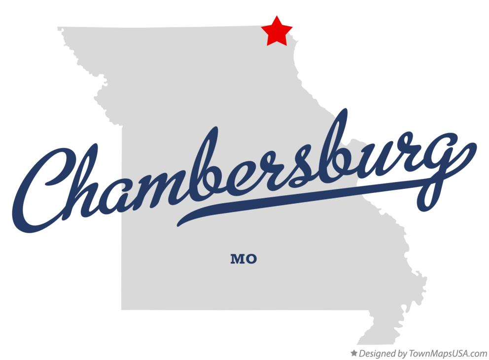Map of Chambersburg Missouri MO