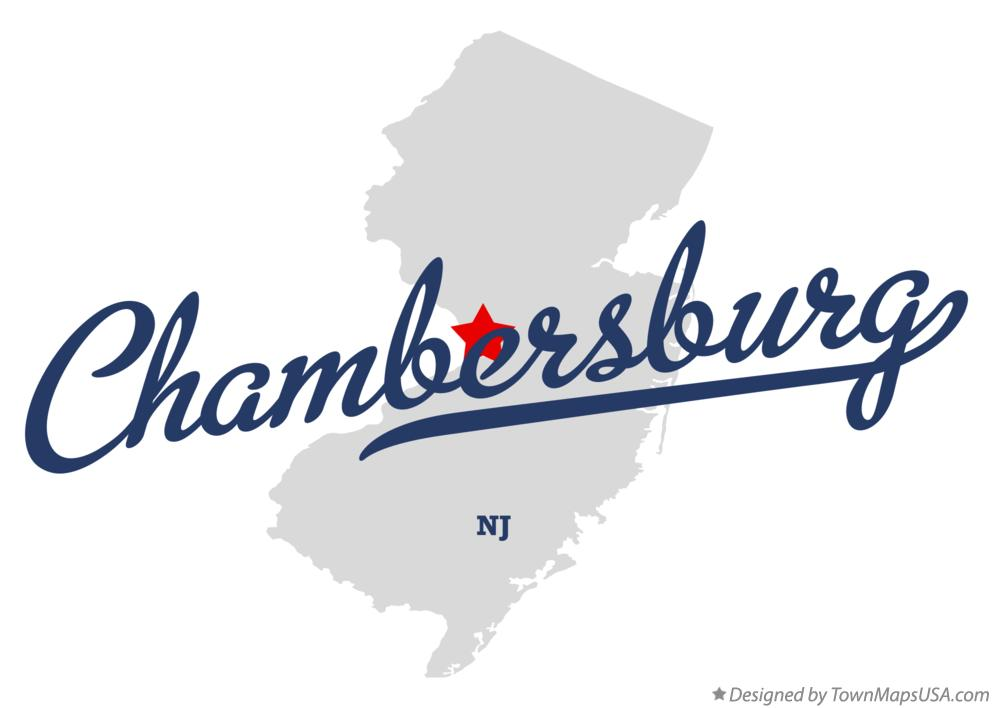 Map of Chambersburg New Jersey NJ