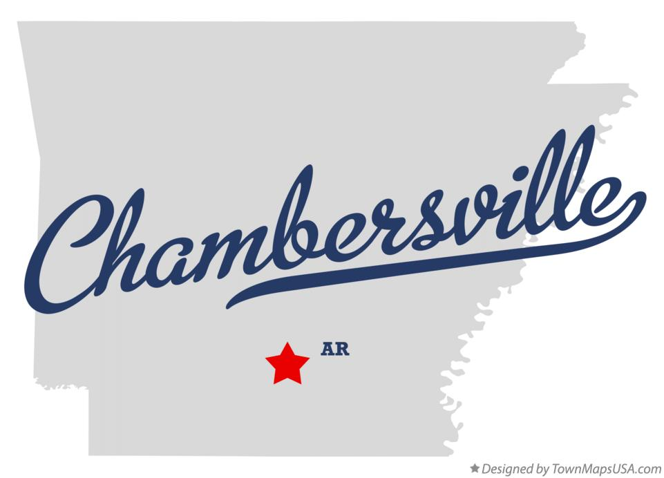 Map of Chambersville Arkansas AR