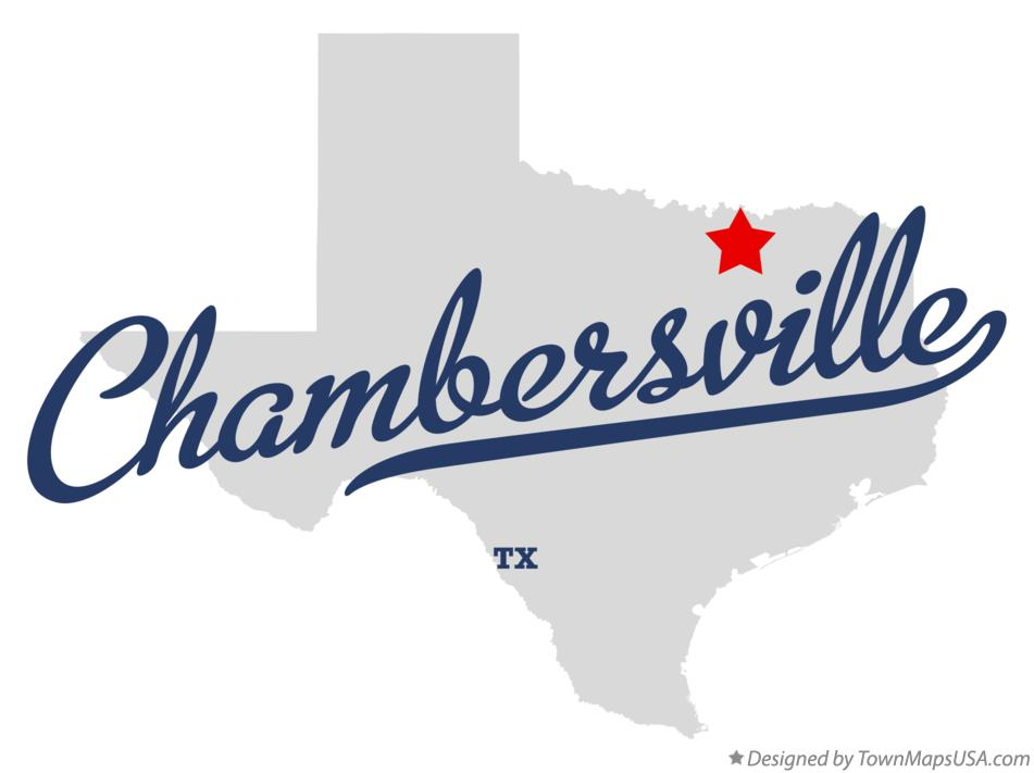 Map of Chambersville Texas TX