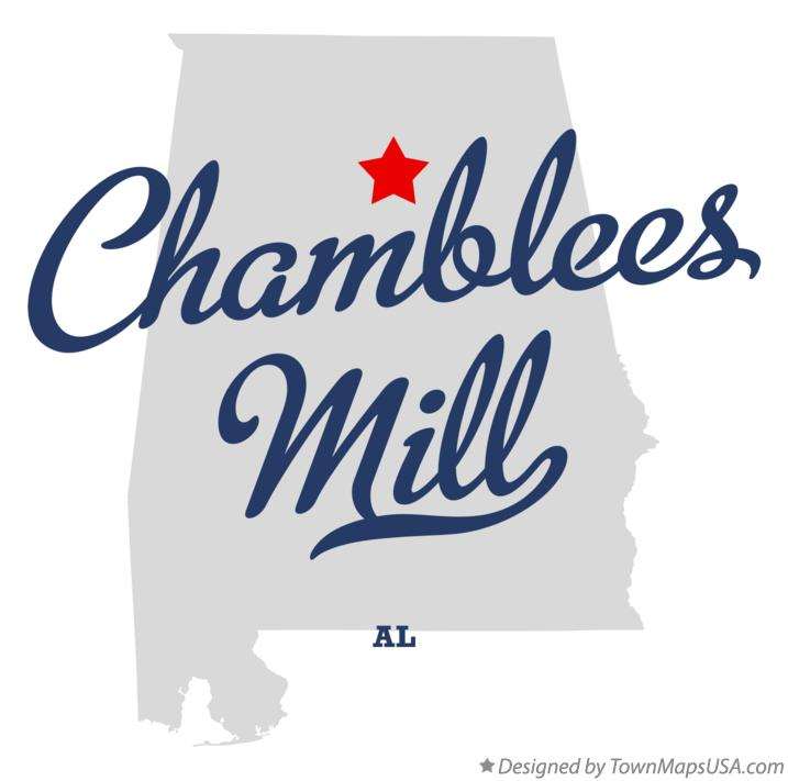 Map of Chamblees Mill Alabama AL