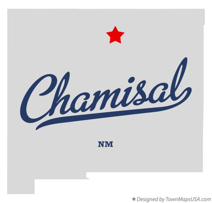 Map of Chamisal New Mexico NM