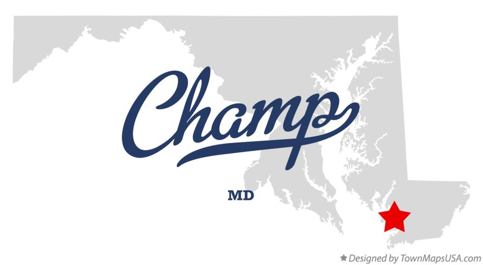 Map of Champ Maryland MD