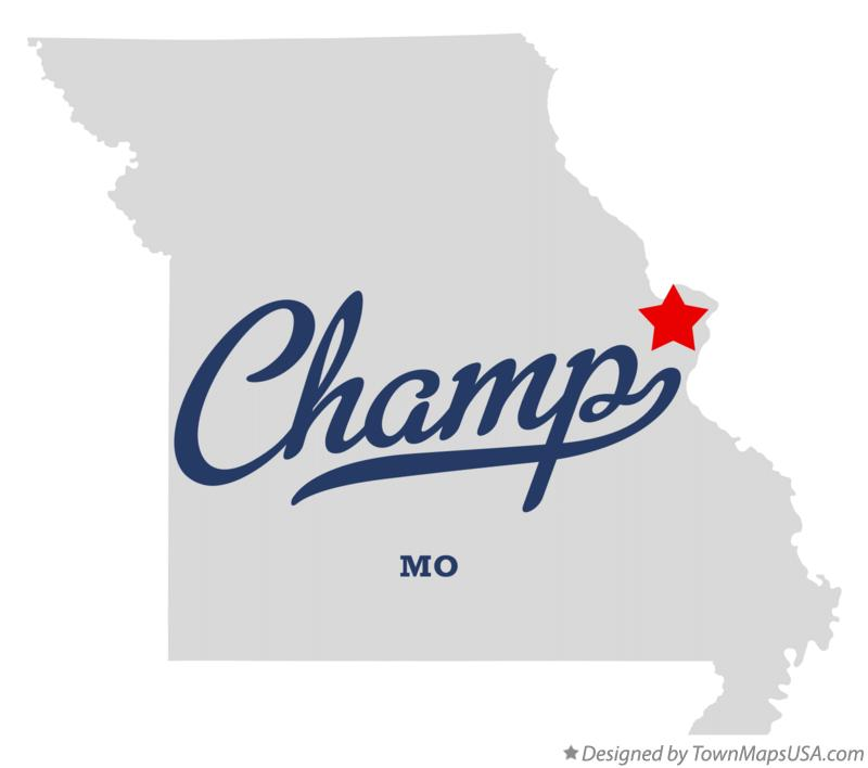 Map of Champ Missouri MO