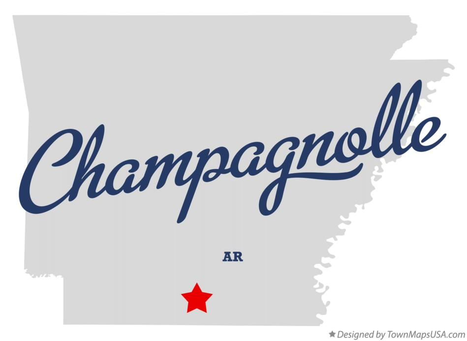 Map of Champagnolle Arkansas AR