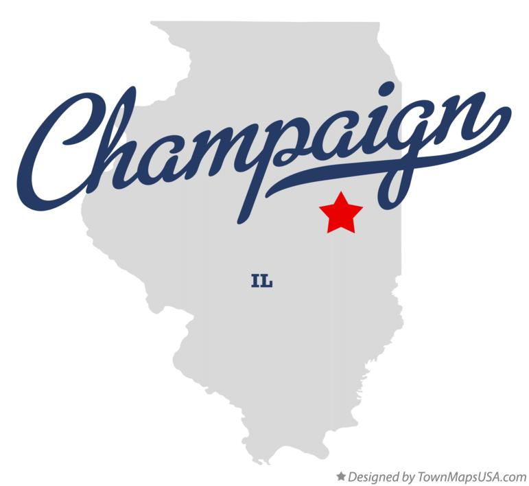 Map of Champaign Illinois IL