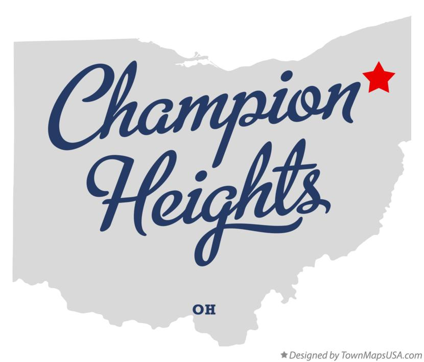 Map of Champion Heights Ohio OH