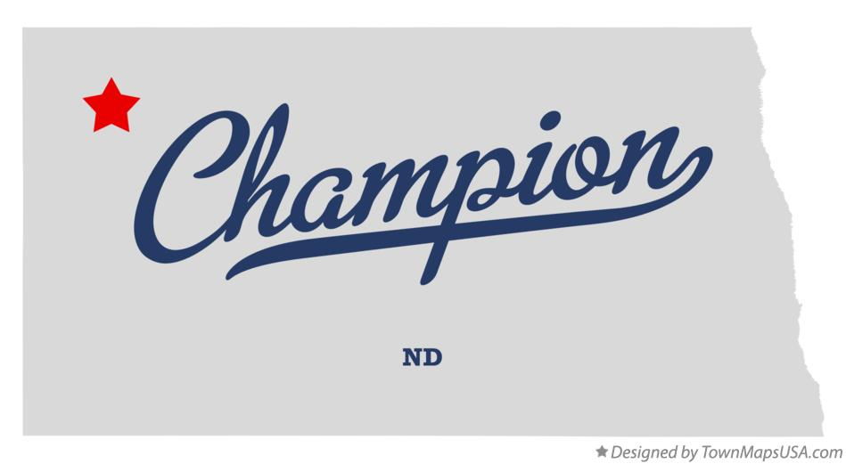 Map of Champion North Dakota ND
