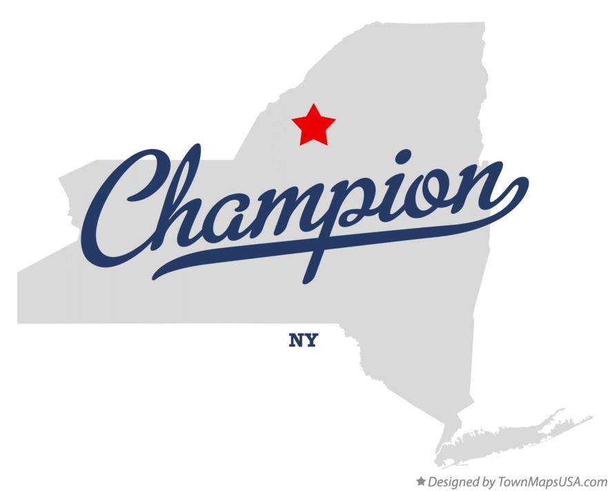 Map of Champion New York NY
