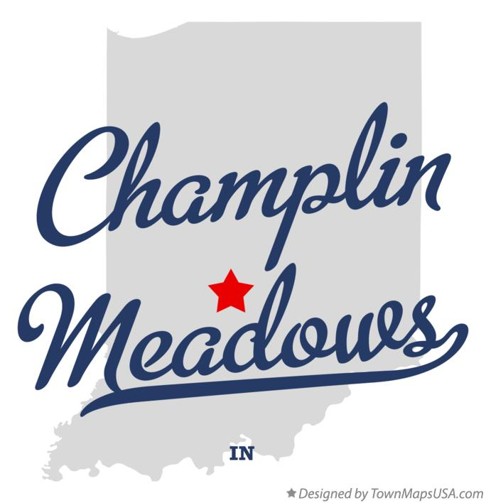 Map of Champlin Meadows Indiana IN