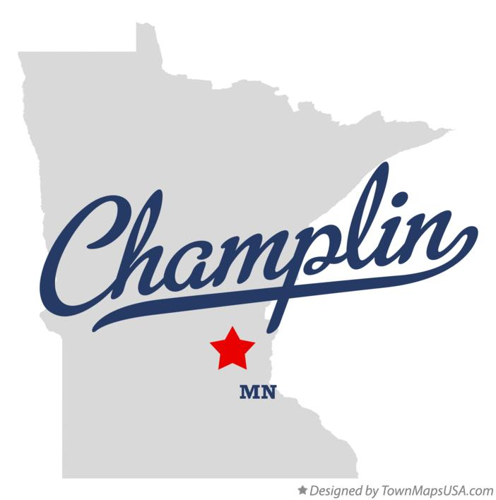 Map of Champlin Minnesota MN
