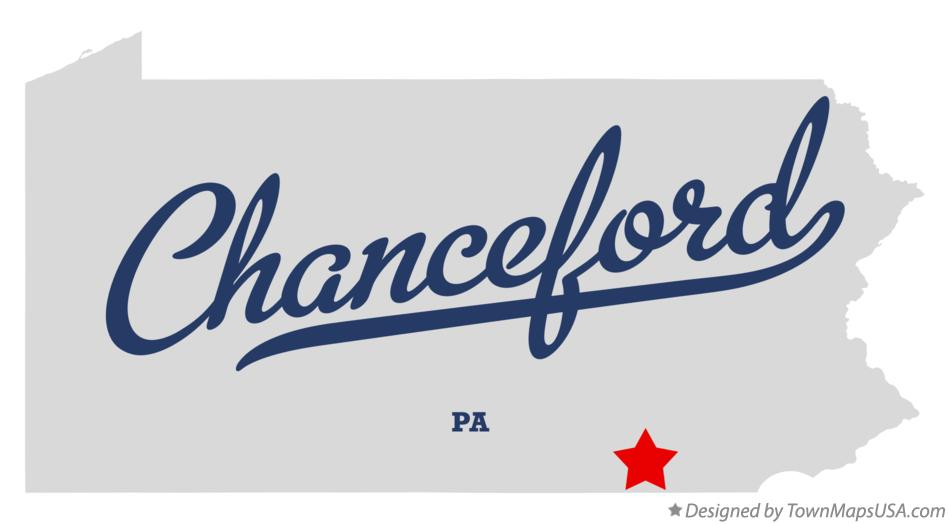 Map of Chanceford Pennsylvania PA