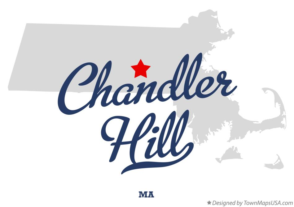 Map of Chandler Hill Massachusetts MA