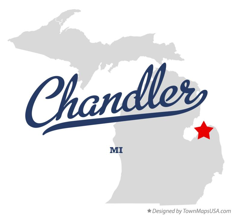 Map of Chandler Michigan MI