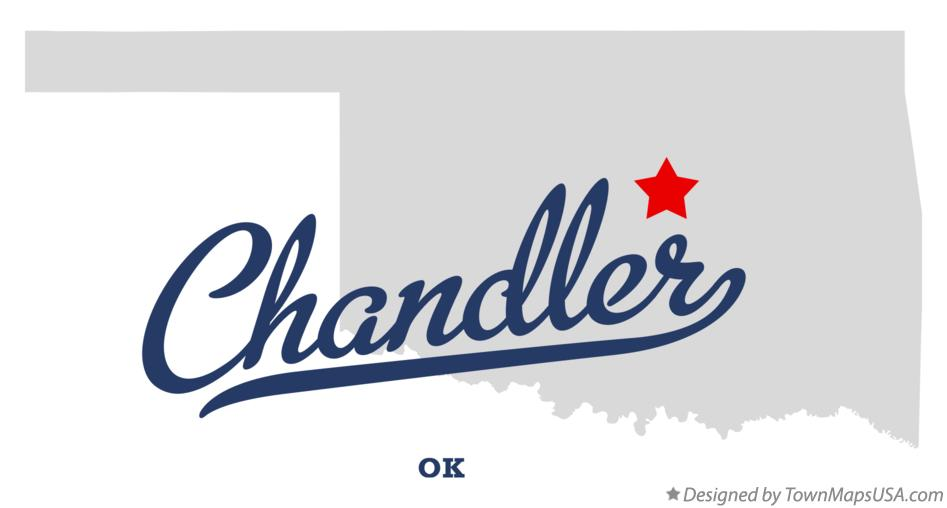 Map of Chandler Oklahoma OK