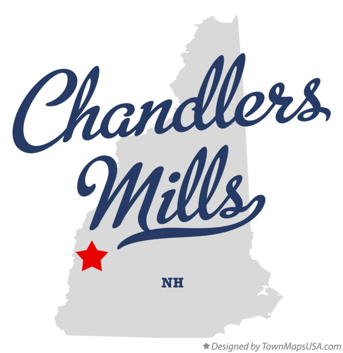 Map of Chandlers Mills New Hampshire NH