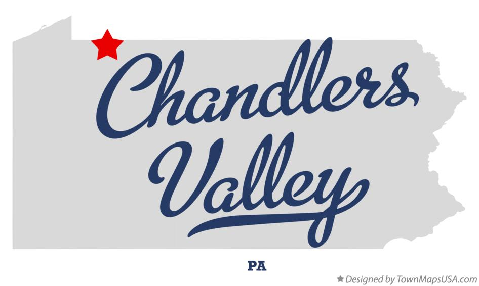 Map of Chandlers Valley Pennsylvania PA