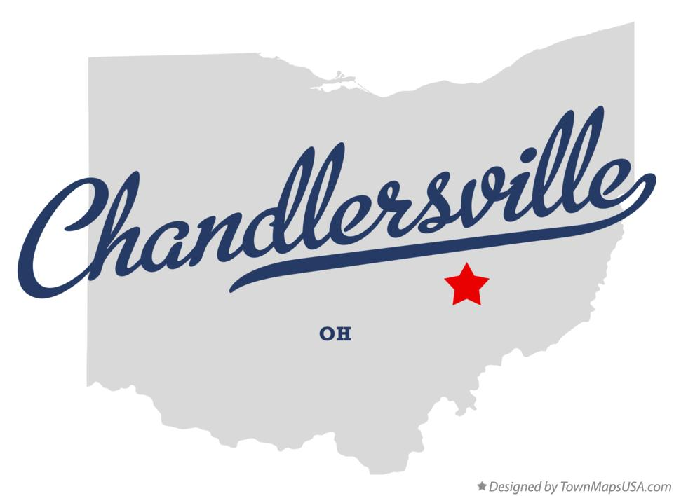 Map of Chandlersville Ohio OH