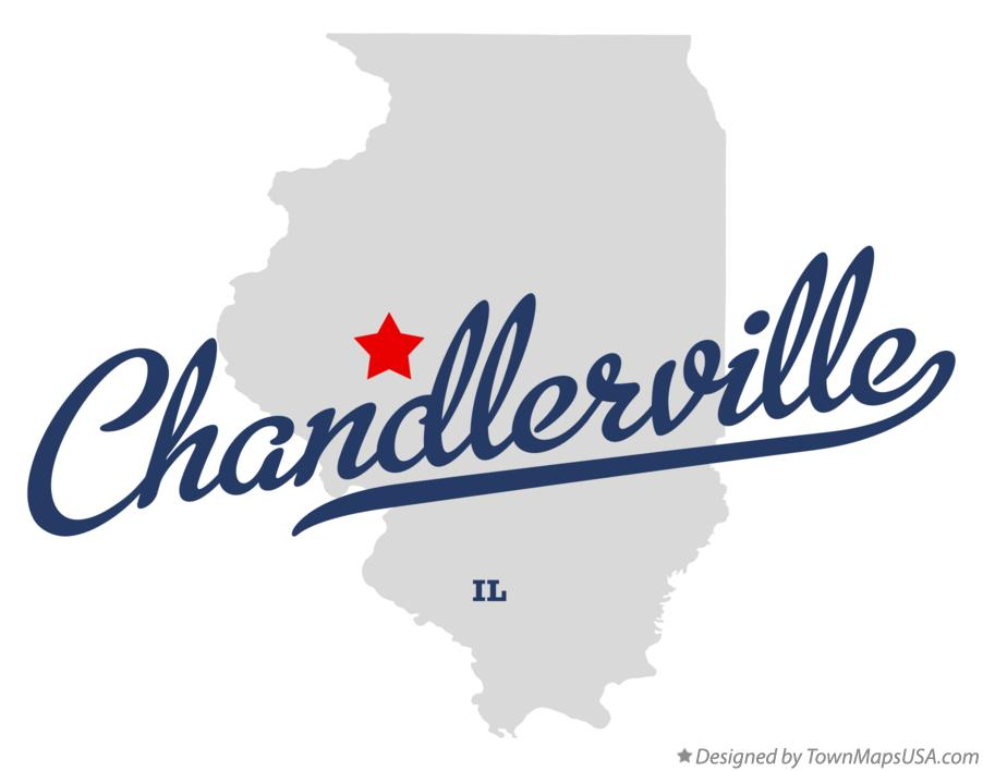 Map of Chandlerville Illinois IL