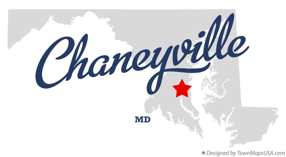 Map of Chaneyville Maryland MD