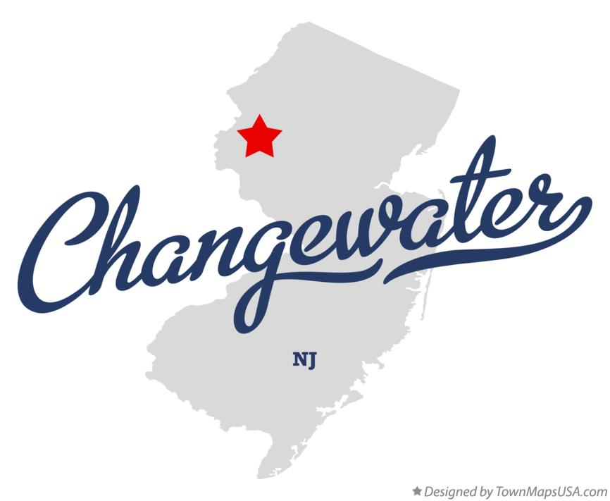 Map of Changewater New Jersey NJ