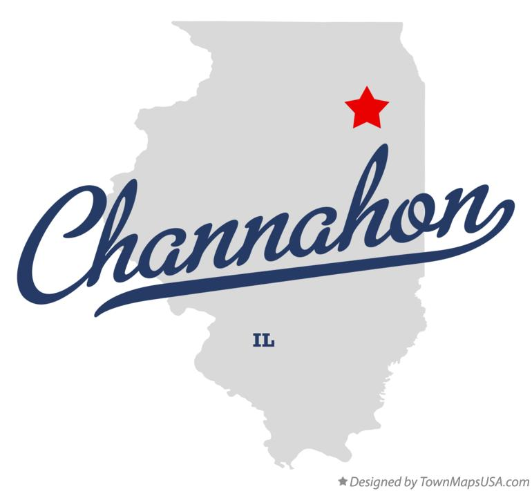 Map of Channahon Illinois IL