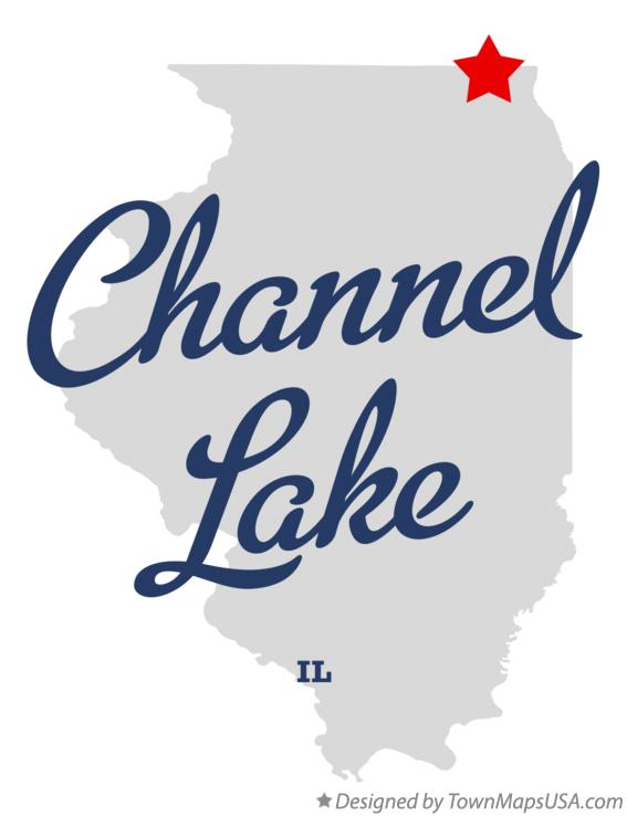 Map of Channel Lake Illinois IL