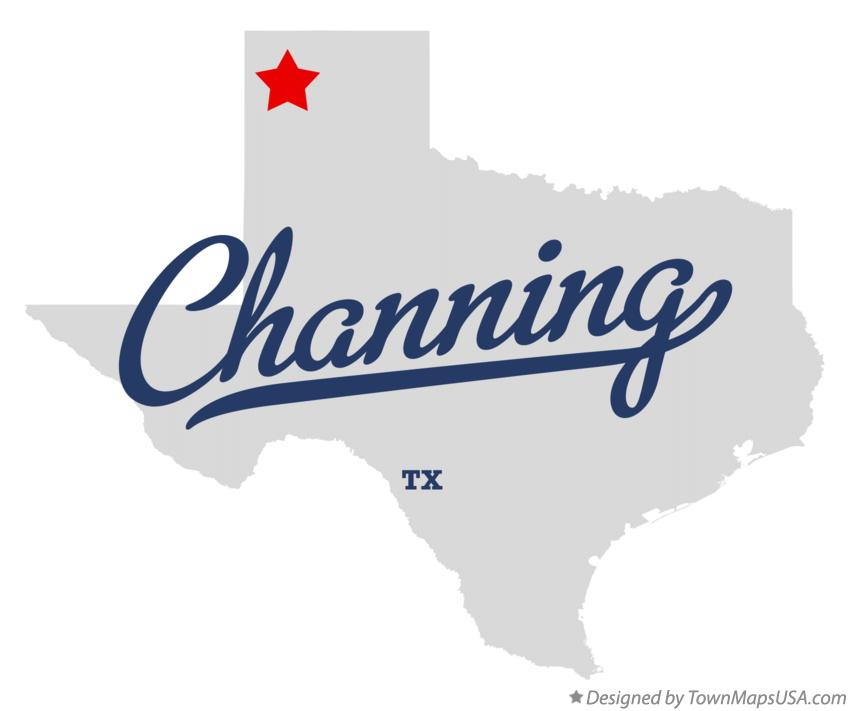 Map of Channing Texas TX