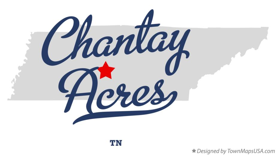 Map of Chantay Acres Tennessee TN
