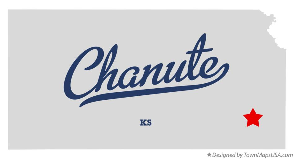 Chanute Kansas Map.Map Of Chanute Ks Kansas