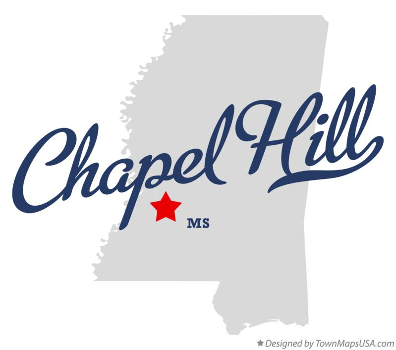 Map of Chapel Hill Mississippi MS