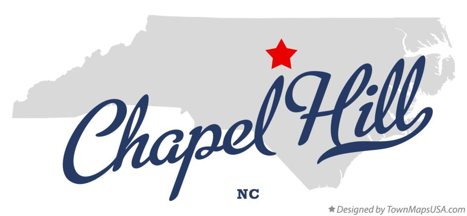 Map of Chapel Hill North Carolina NC