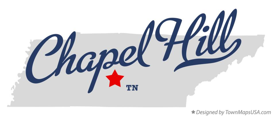 Map of Chapel Hill Tennessee TN