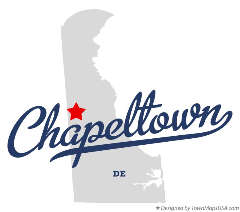 Map of Chapeltown Delaware DE