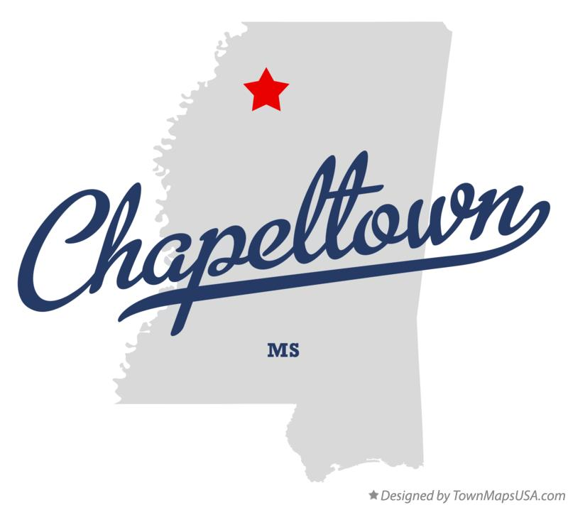 Map of Chapeltown Mississippi MS