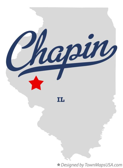 Map of Chapin Illinois IL