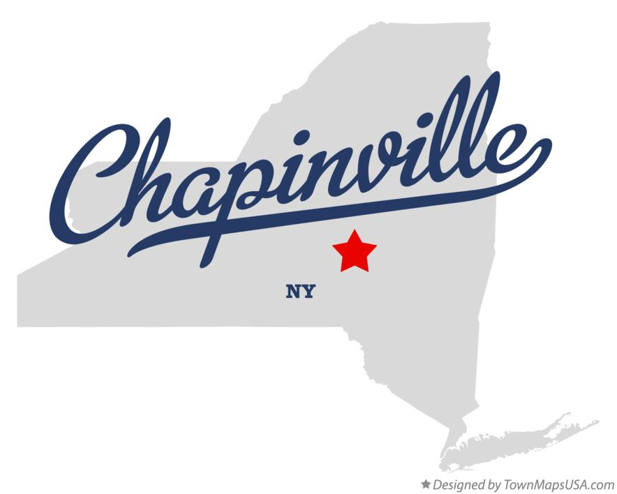 Map of Chapinville New York NY