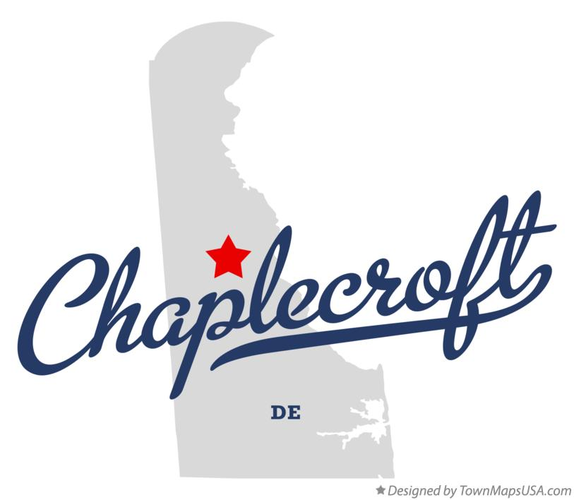 Map of Chaplecroft Delaware DE
