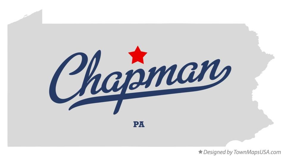 Map of Chapman Pennsylvania PA