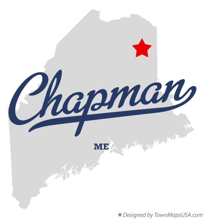 Map of Chapman Maine ME