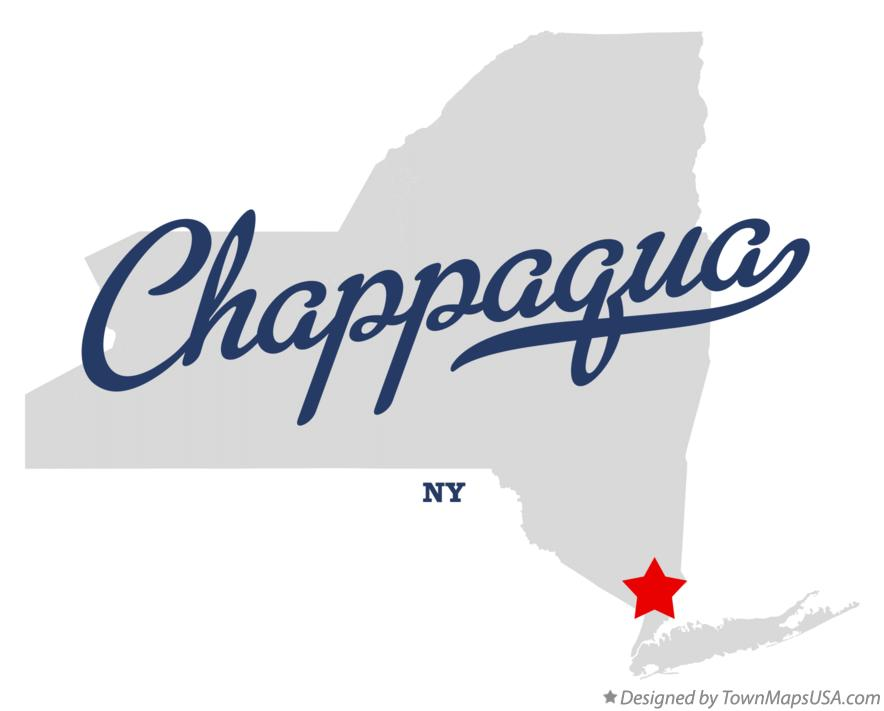 Map of Chappaqua New York NY