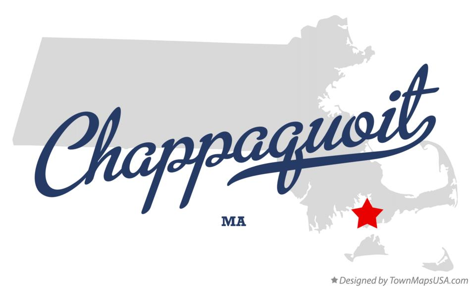 Map of Chappaquoit Massachusetts MA