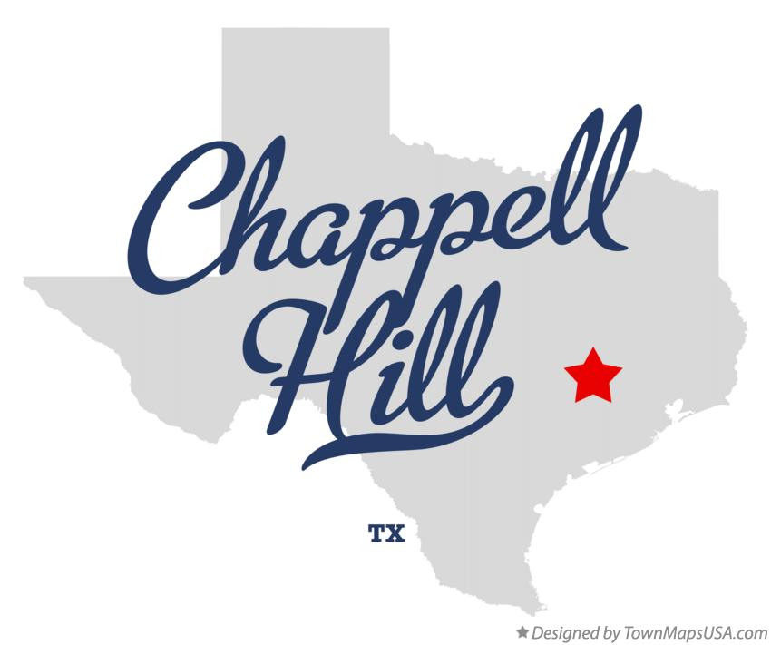 Map of Chappell Hill Texas TX