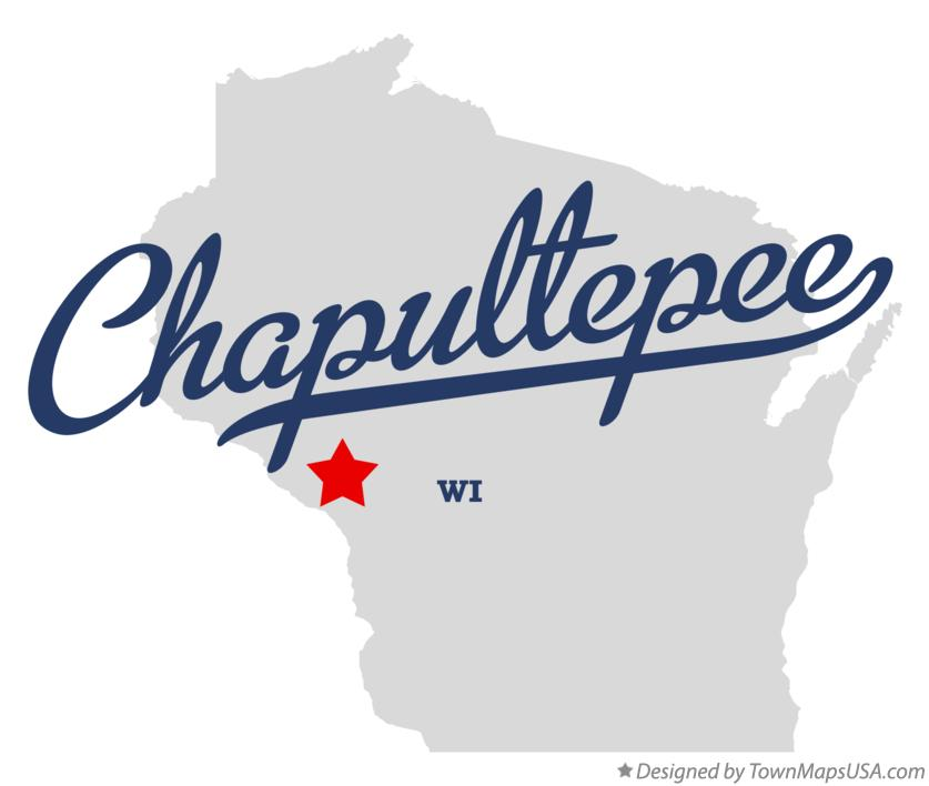 Map of Chapultepee Wisconsin WI