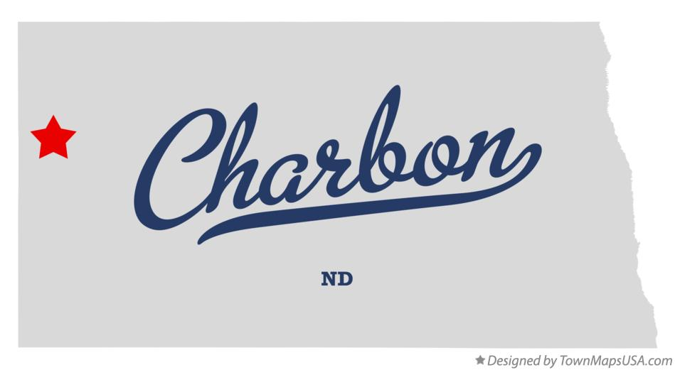 Map of Charbon North Dakota ND