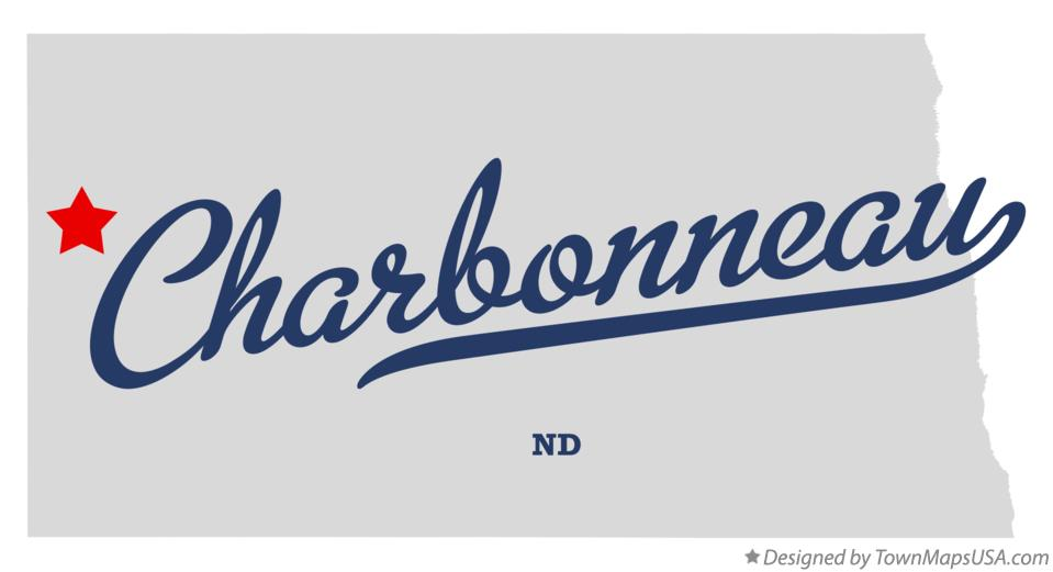 Map of Charbonneau North Dakota ND